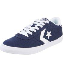 zapatilla azul  converse  point star ox