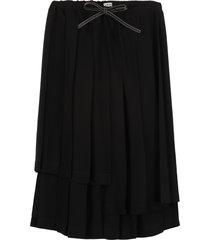 loewe asymmetric midi-skirt