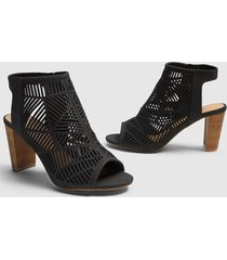 lane bryant women's dream cloud cutout open-toe bootie 12w black