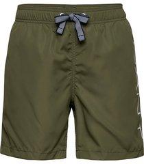 boy's logo swim shorts lightweight badshorts grön gant