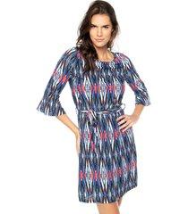 vestido facinelli by mooncity curto blusê azul