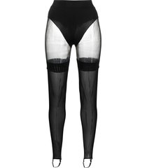 murmur leg hold-up tights - black