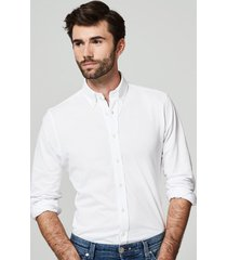 michaelis knitted shirt met button down kraag