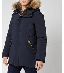 mackage men's edward parka jacket - navy - s