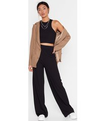 get straight to it top and wide-leg pants set