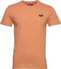 ol vintage embroidery tee t-shirts short-sleeved orange superdry