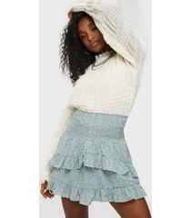 neo noir line mini tapestry skirt minikjolar