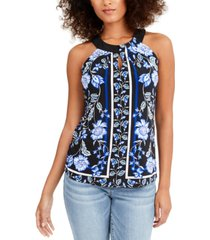 inc petite twisted keyhole top, created for macy's