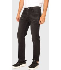 jeans ellus slim black jogging denim tiro medio negro - calce slim fit