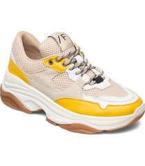 slfgavina trainer b sneakers skor orange selected femme