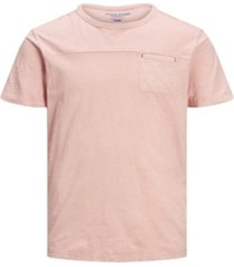 jack & jones men's washed plain crew neck t-shirt