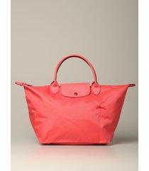 longchamp handbag le pliage club longchamp bag in nylon with embroidered logo