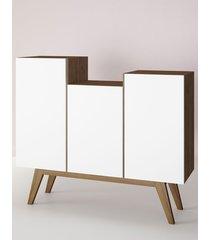aparador buffet/bar elegance branco estilare móveis