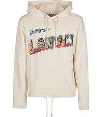 lanvin off-white cotton sweatshirt