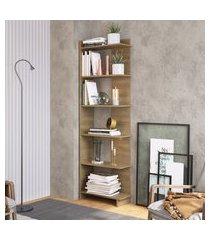 estante para livros completa móveis est140 5 prateleiras