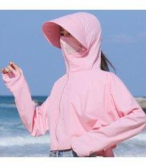 señoras verano nuevo sol extraíble sombrero-rosa