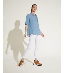 camisa azul portsaid