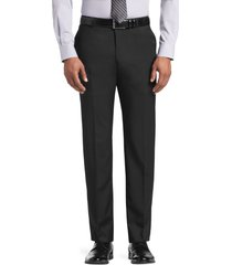 jos. a. bank men's reserve collection tailored fit flat front suit separate pants - big & tall clearance, black, 54 long