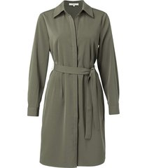belted button up midi dress dark olive