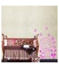adesivo de parede cartelas menina. borboletas e flores - m 50x50cm
