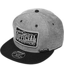 gorra gris official vintage work