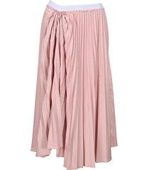 marni pleated technical cotton skirt