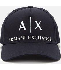 armani exchange men's corp logo cap - navy
