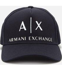 armani exchange men's corporate ax logo cap - navy