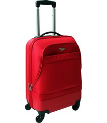"maleta de viaje tipo cabina híbrido 20"" roja - explora"
