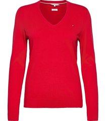 heritage v-nk sweater gebreide trui rood tommy hilfiger