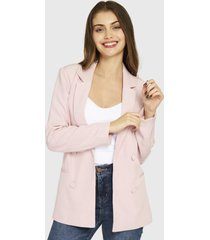 blazer botones decorativos rosado nicopoly