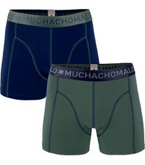 muchachomalo men 2-pack boxer solid/solid blauw