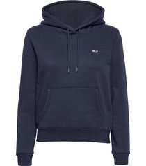 tjw regular fleece hoodie hoodie trui blauw tommy jeans