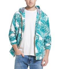 weatherproof vintage men's leaf print nylon jacket