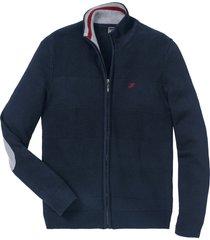 cardigan con mix di  motivi a maglia (blu) - bpc selection