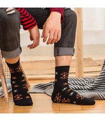 uomo donna inverno caldo stampa medio tubo natale calze cotone traspirante casual buono elastico calze