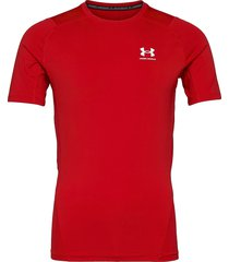 ua hg armour comp ss t-shirts short-sleeved röd under armour