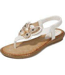 sandalias chanclas verano new style mujer-blanco