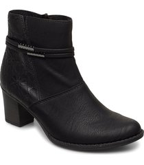 z7684-00 shoes boots ankle boots ankle boot - heel svart rieker