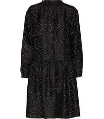 myra jurk knielengte zwart stella nova