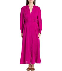 forte forte long pinafore dress in voile
