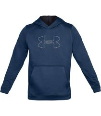 buzo azul under armour performance fleece graphic hoodie 1329743-437