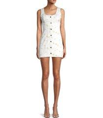 for love & lemons women's waverly floral mini dress - daisy - size l