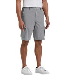 joseph abboud gray plaid modern fit cargo shorts