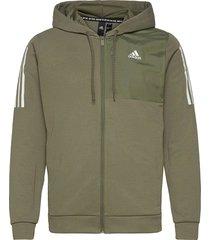 m mh aero fz hoodie trui groen adidas performance