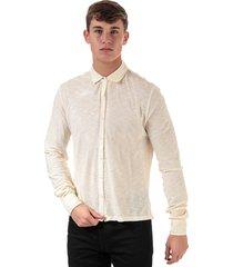 mens cotton slub long sleeve shirt