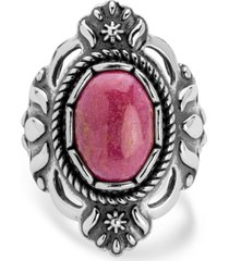 american west classics rhodonite ring in sterling silver