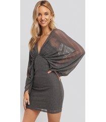 na-kd party dolman glittery mini dress - grey