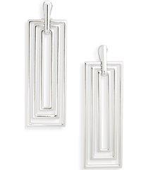 open edit rectangular statement earrings in rhodium at nordstrom