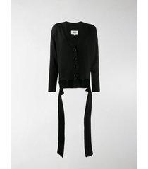 mm6 maison margiela tie-front knit cardigan